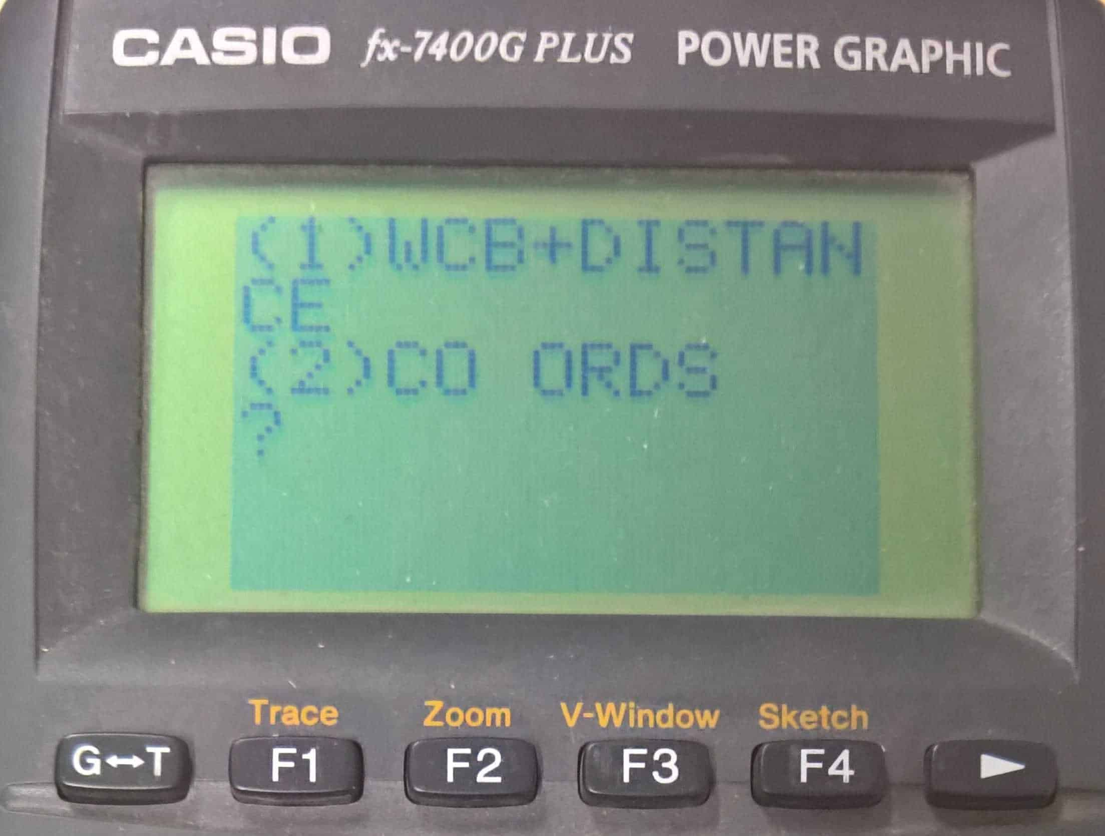Casio Calculator Programme