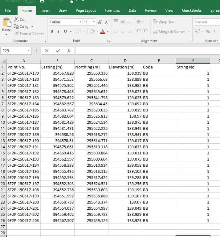 Stockpile Example Data 1